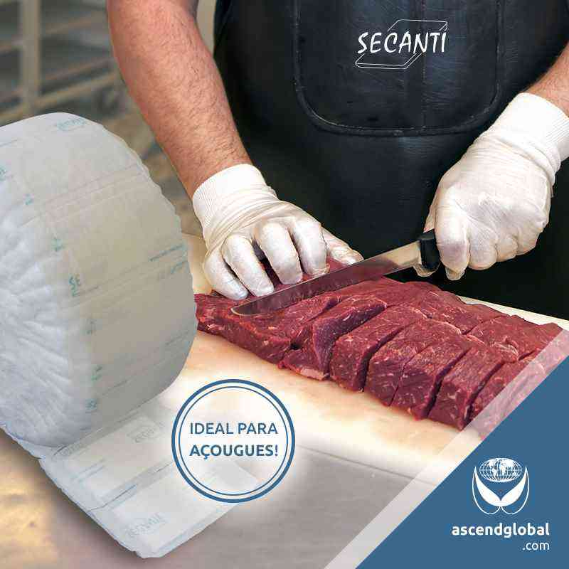 See our photos publised on social media-Absorvente para Alimentos Secanti em Açougues