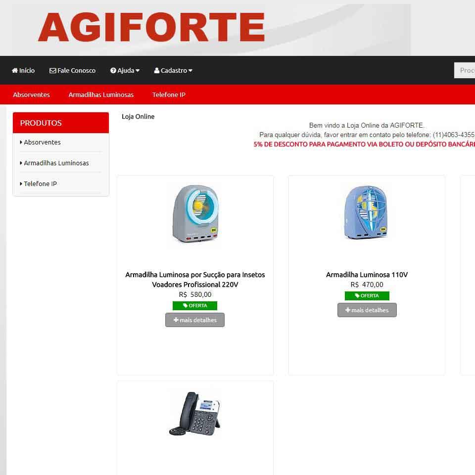 Venda Online www.agiforte.com.br