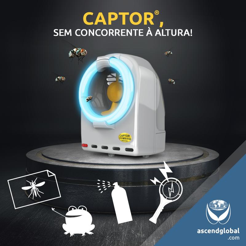 CAPTOR®, Armadilha Luminosa, nas Redes Sociais em Dezembro-Para se livrar dos insetos voadores, não há adesivo, sapinho, repelente ou raquete que seja tão eficaz como CAPTOR®.