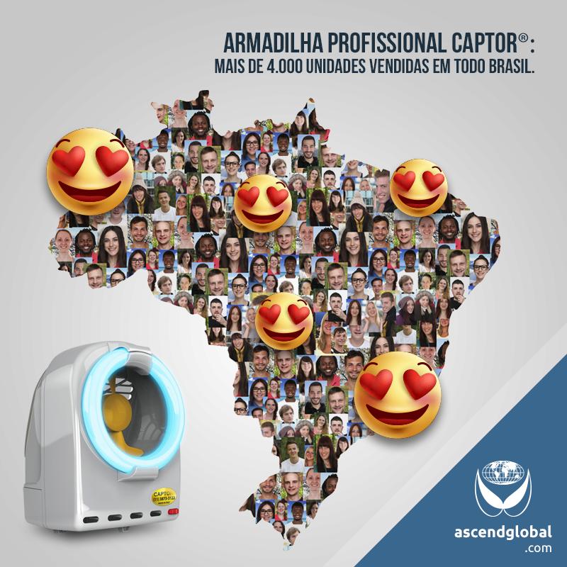 CAPTOR®, Armadilha Luminosa, nas Redes Sociais em Outubro-Armadilha luminosa profissional: Mais de 4.000 unidades vendidas em todo Brasil.