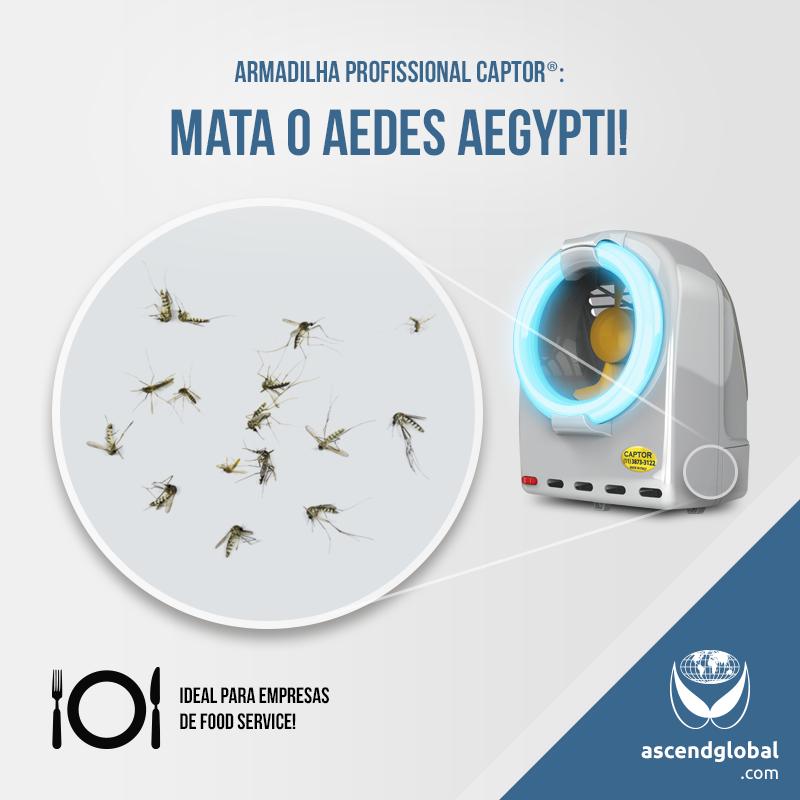 CAPTOR®, Armadilha Luminosa, nas Redes Sociais em Outubro-Armadilha luminosa CAPTOR®: também captura insetos transmissores de doenças, como o Aedes Aegypti.