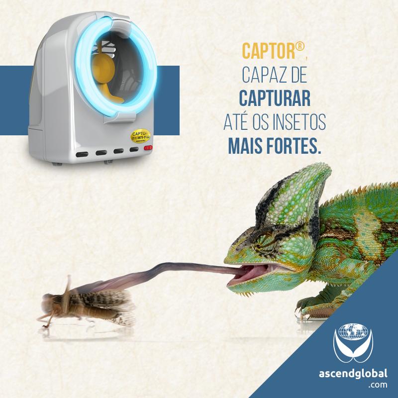 CAPTOR®, Armadilha Luminosa Profissional nas Redes Sociais em Fevereiro e Março-CAPTOR® é uma armadilha luminosa por sucção capaz de capturar até os insetos mais fortes.