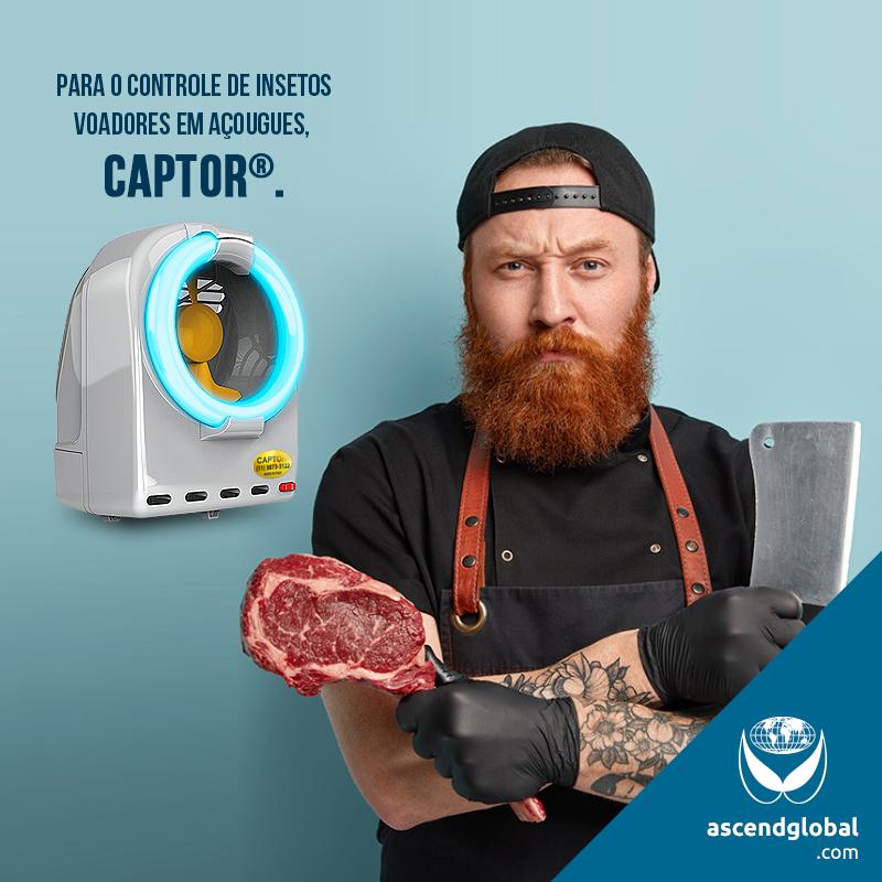CAPTOR®, Armadilha Luminosa Profissional nas Redes Sociais em Maio e Junho-CAPTOR® é uma armadilha luminosa profissional que funciona por sucção ideal para supermercados, restaurantes, açougues e outras empresas que lidam com alimentação.