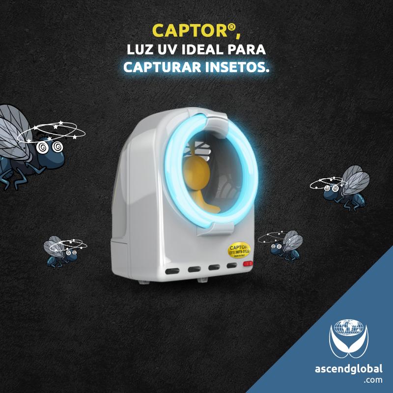 CAPTOR®, Armadilha Luminosa Profissional nas Redes Sociais em Fevereiro e Março-A lâmpada de CAPTOR® possui um pico de luz em 365 nanômetros: o mais indicado para atrair o maior número de insetos possível.