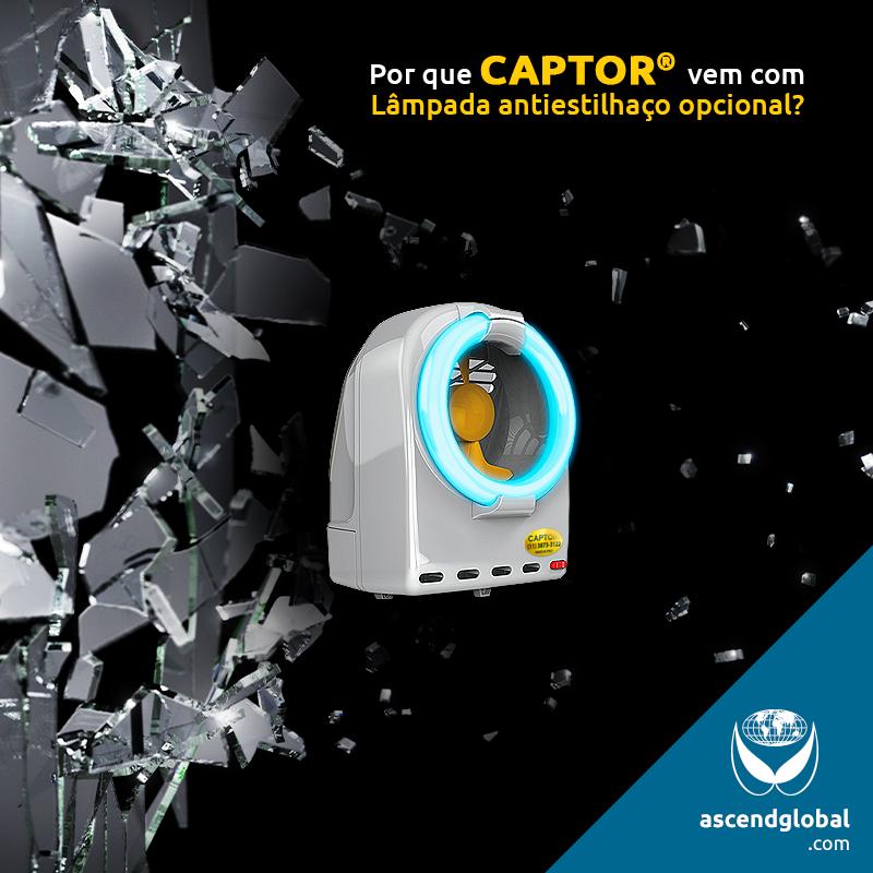 CAPTOR®, a Italianinha nas Redes Sociais em Junho e Julho-CAPTOR® é uma armadilha luminosa profissional por sucção contra insetos voadores que vem com lâmpada antiestilhaço opcional.
