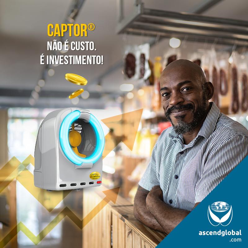 CAPTOR®, a Armadilha Italiana nas Redes Sociais em Julho e Agosto-CAPTOR® é uma armadilha luminosa inovadora, pois funciona por sucção. Desenvolvida na Itália, sem refil e com baixa periodicidade de manutenção, é a solução ideal para estabelecimentos que lidam com comida.