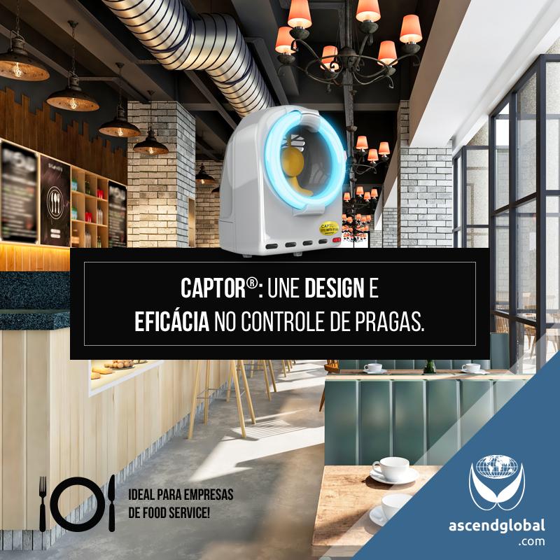CAPTOR®, Armadilha Luminosa, nas Redes Sociais em Novembro-Uma armadilha luminosa profissional por sucção de design italiano.
