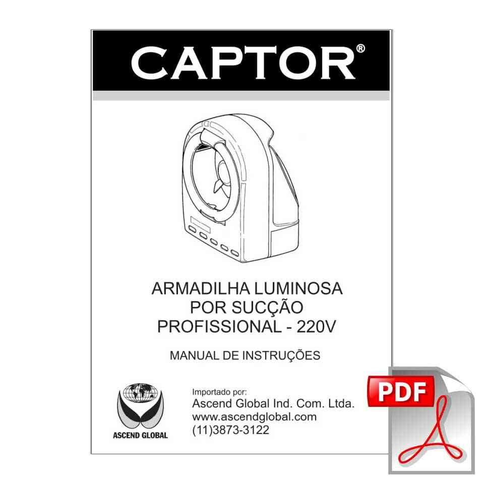 Armadilha Luminosa - Captor 32W (220 Volts) - Manual Captor 220V Mosca e Mosquito