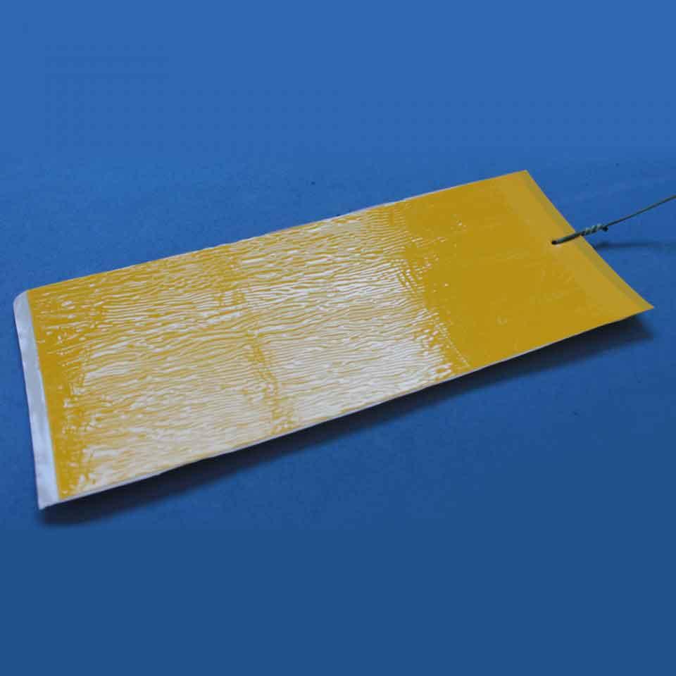 Armadilha Adesiva - Placas Amarelas - A rugosidade é a cola no produto.