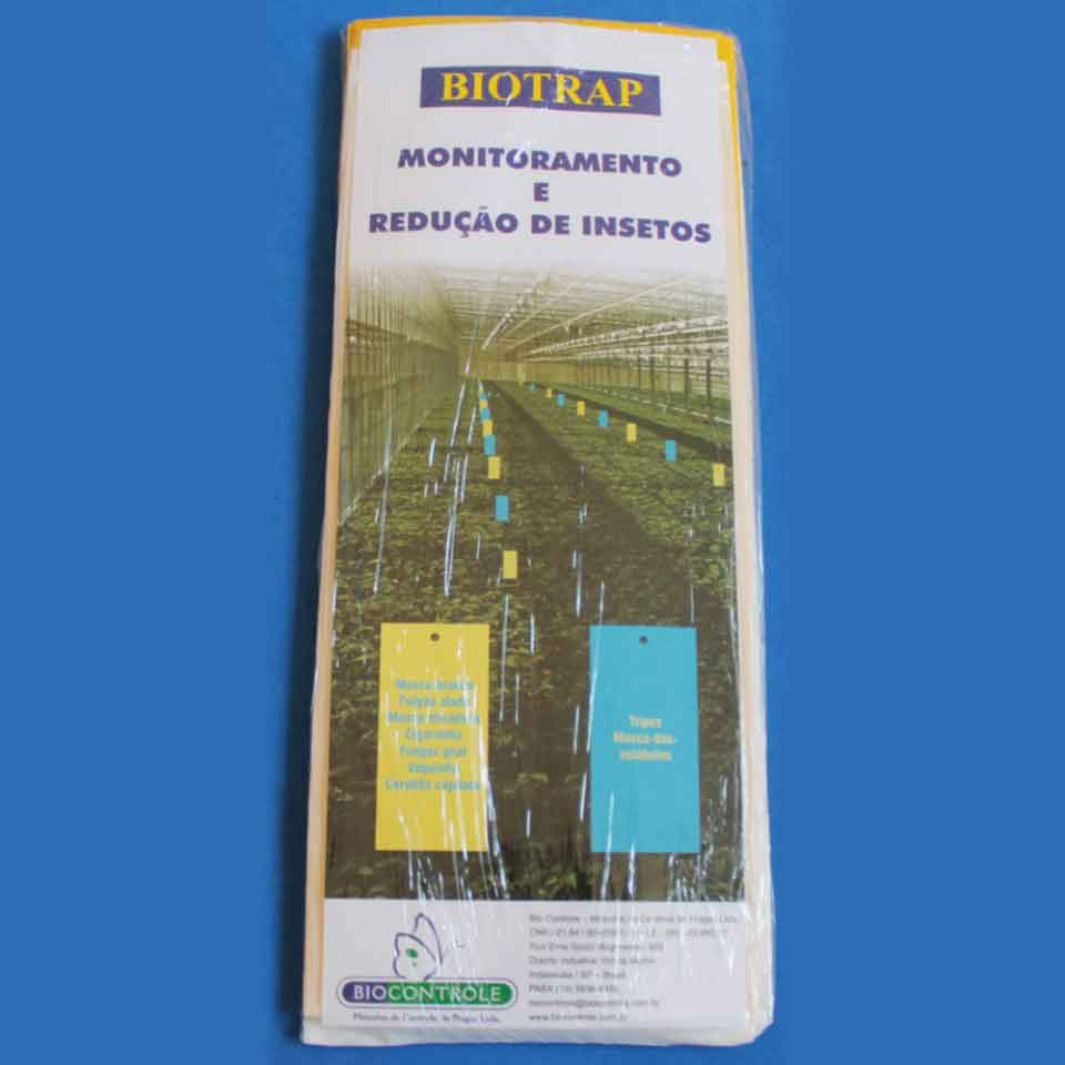 Armadilha Adesiva - Placas Amarelas - Embalagem do produto em placas.
