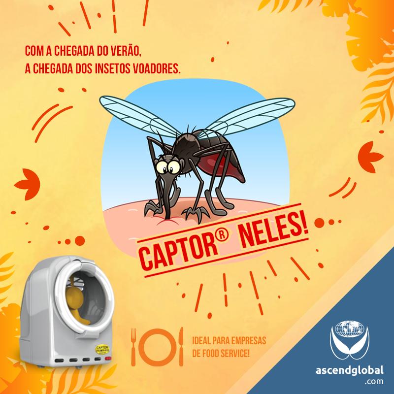 CAPTOR®, Armadilha Luminosa, nas Redes Sociais em Janeiro 2021-CAPTOR® é uma armadilha luminosa por sucção que captura uma grande variedade de insetos voadores. Ideal para o verão!