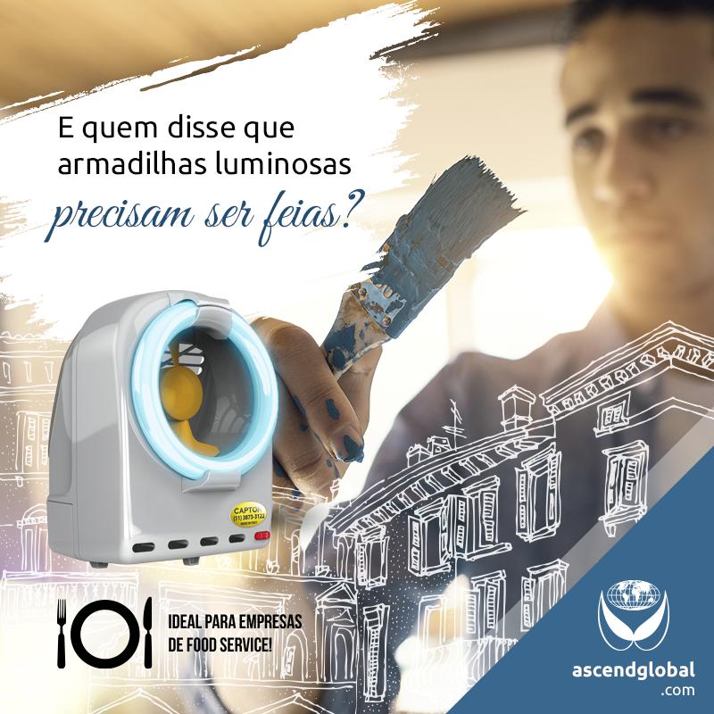 CAPTOR®, Armadilha Luminosa, nas Redes Sociais em Janeiro 2021-CAPTOR® é uma armadilha luminosa profissional por sucção com design diferenciado.