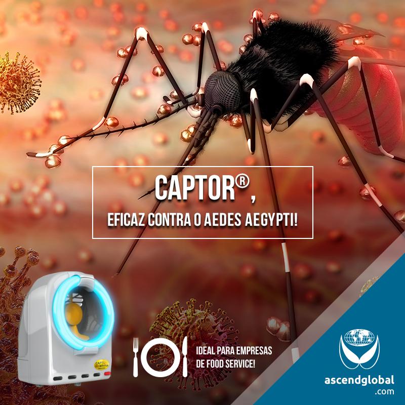 CAPTOR®, Armadilha Luminosa, nas Redes Sociais em Janeiro 2021-Proteja seus clientes e colaboradores do Aedes Aegypti com CAPTOR®, uma armadilha luminosa profissional.