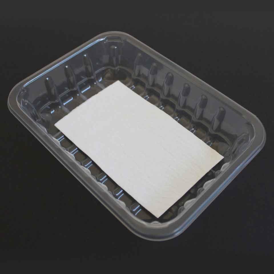 Absorvente (Alimentos) - 50mL Premium - Aspecto em embalagem transparente.