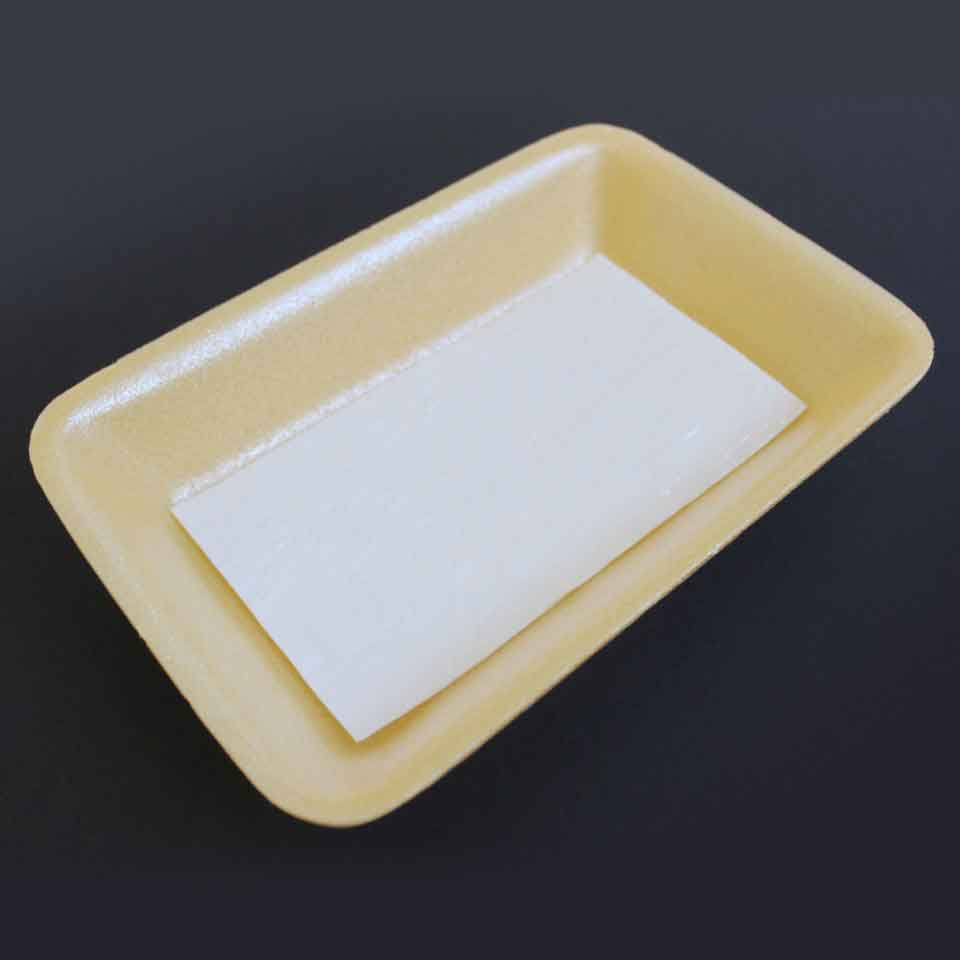 Absorbent Food Pad - Secanti - 50mL Premium - Aspecto em embalagem amarela.