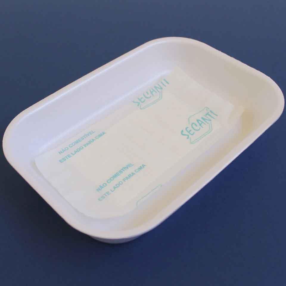 Absorbent Food Pad - Secanti - 50mL - Aspecto em embalagem branca.