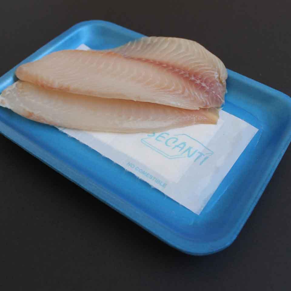 Absorvente (Alimentos) - 50mL - Aspecto em embalagem azul com peixe.