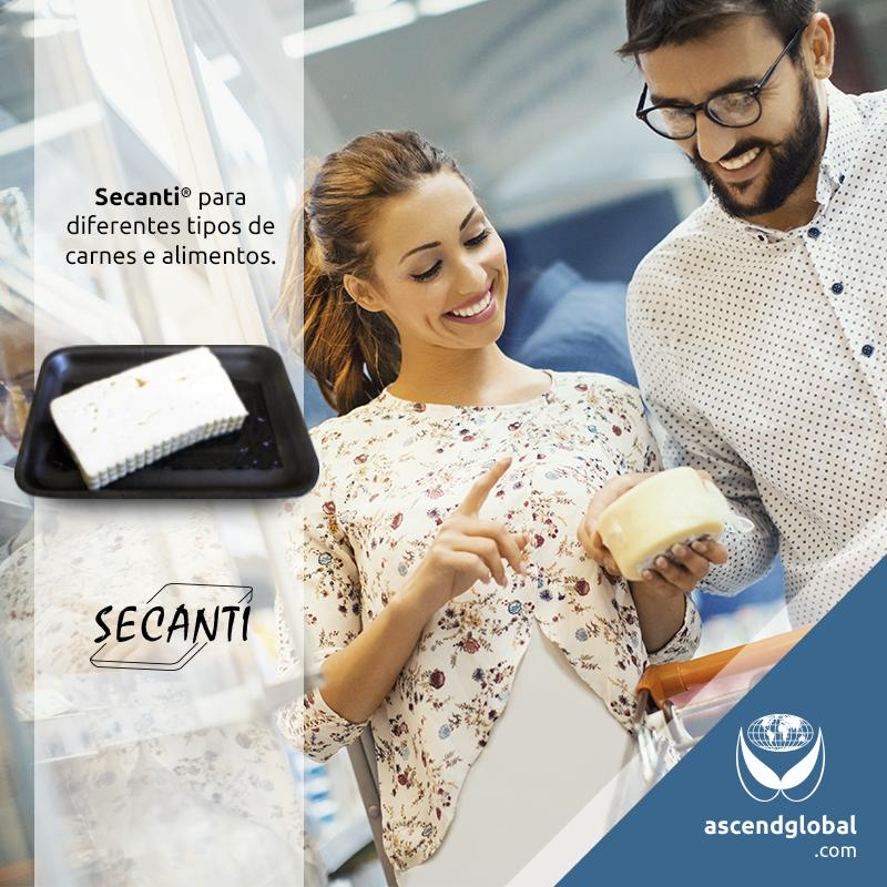 Secanti®, Absorvente para Alimentos nas Redes Sociais em Janeiro e Fevereiro-Bandeja de alimento pingando pode afastar clientes. Secanti® proporciona uma apresentação profissional.