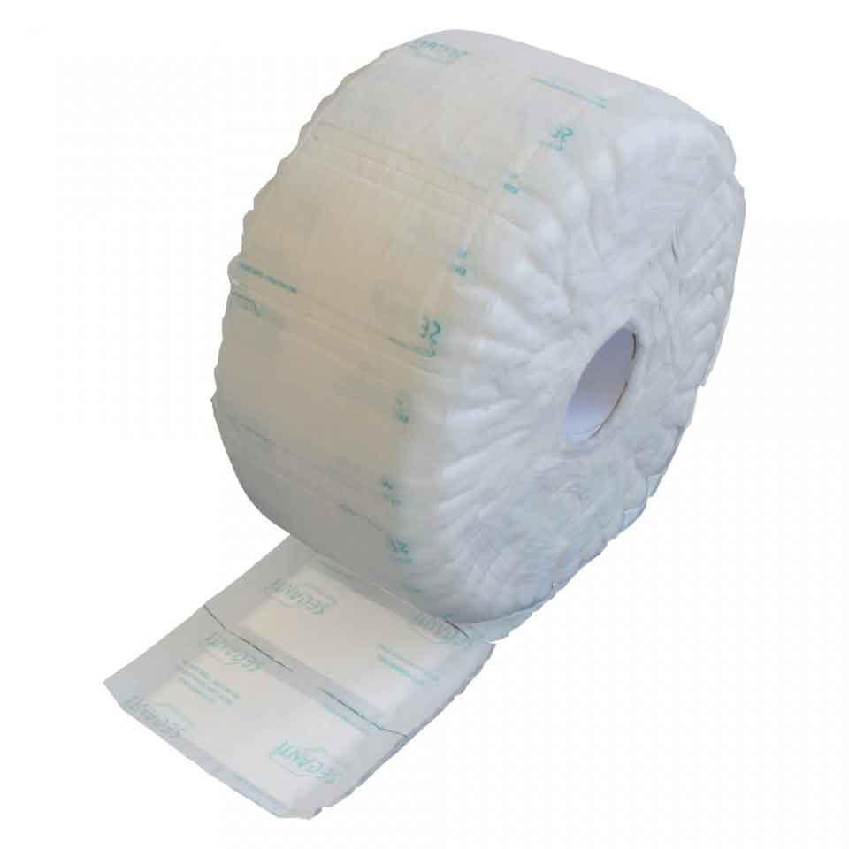Absorbent Food Pad - Secanti - 50mL - Rolo na cor branca.