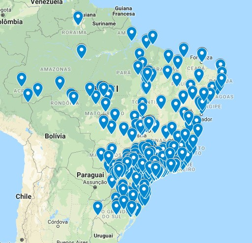 Maps of all traps sold around Brazil