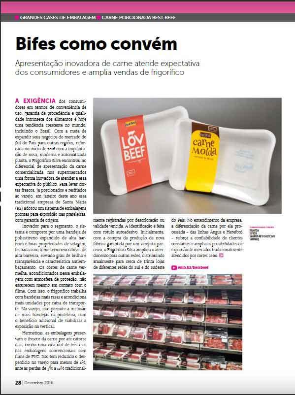 Absorvente para alimentos Secanti é destaque na revista Embalagem Marca n. 208 / Dezembro 2016